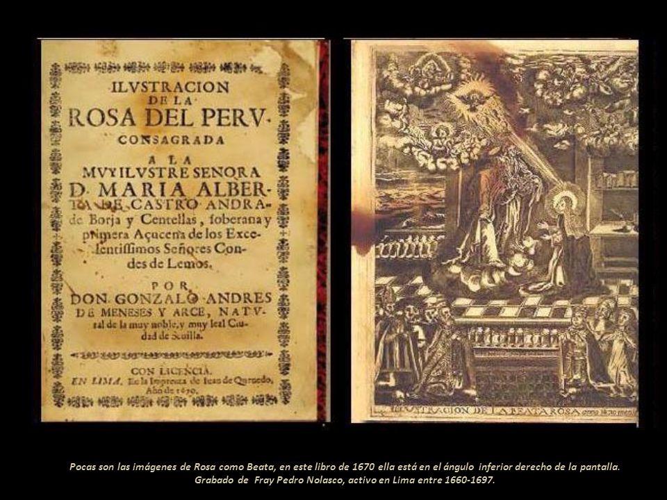 La beata Rosa de Santa María pisando al...Patón y tiñoso.., como ella le decía al demonio, en este caso en forma de culebra. Escultura en alabastro,13