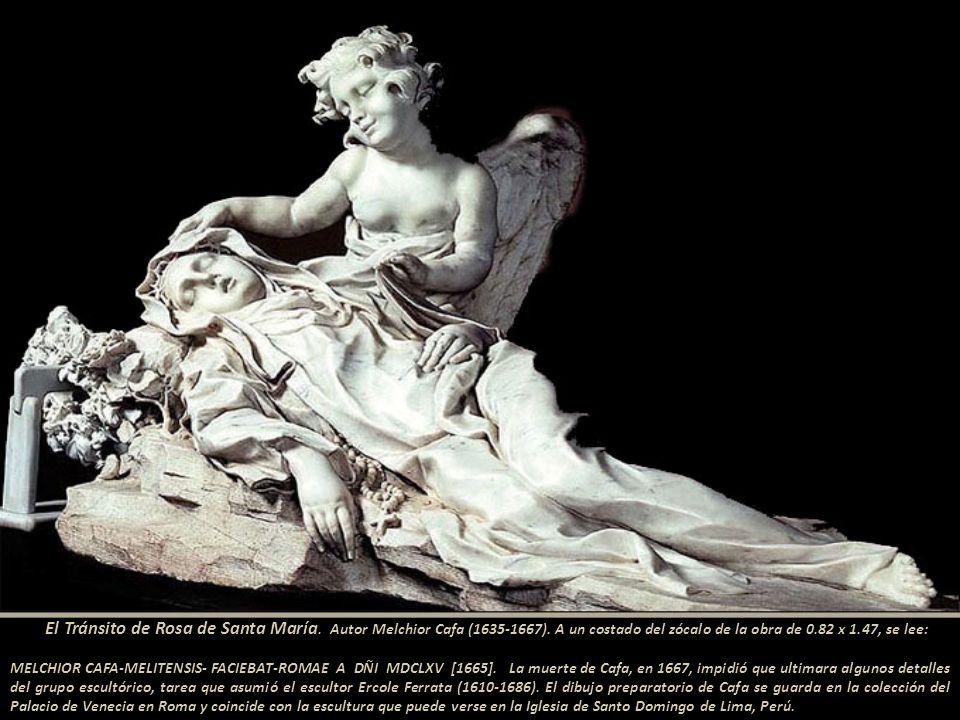 Mugaburu y otros cronistas ofrecen abundantes textos sobre la llegada de una bella escultura de la beata limeña.------------------------ El Tránsito d