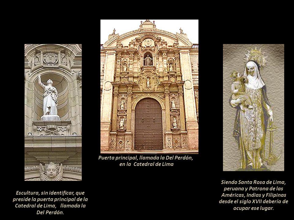 Altar lateral de la Iglesia de Santo Domingo de Lima Santa Rosa, San Martín de Porres y el español San Juan Masías, todos dominicos. En una de las cap