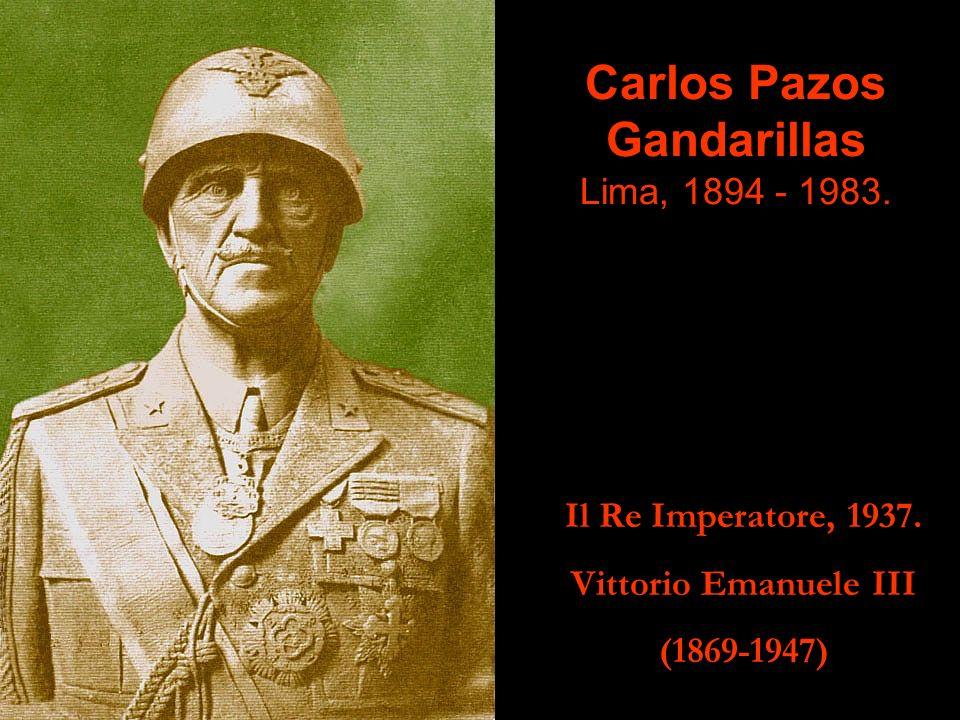 Carlos Pazos Gandarillas Lima, 1894 - 1983.Il Re Imperatore, 1937.