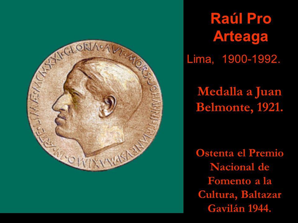 Romano Espinoza Cáceda Lima, 1898- 1957. Tumba Luis Sánchez Cerro, 1940. Ostenta el Premio Nacional de Fomento a la Cultura, Baltazar Gavilán 1949.