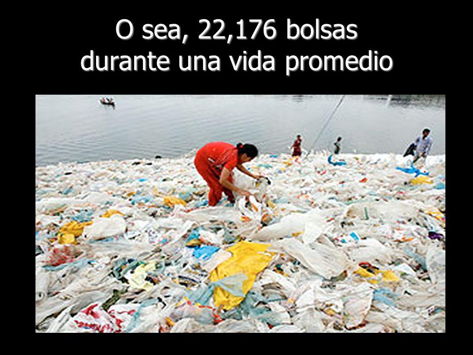 O sea, 22,176 bolsas durante una vida promedio
