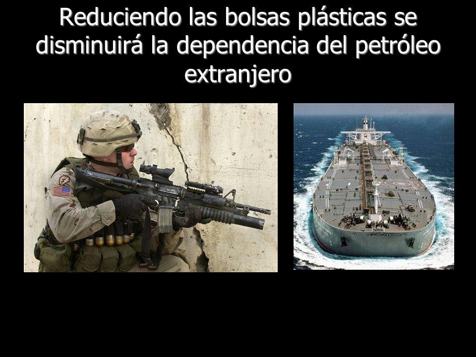 Reduciendo las bolsas plásticas se disminuirá la dependencia del petróleo extranjero