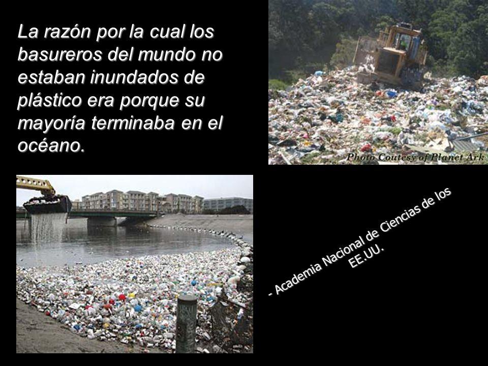 La razón por la cual los basureros del mundo no estaban inundados de plástico era porque su mayoría terminaba en el océano.