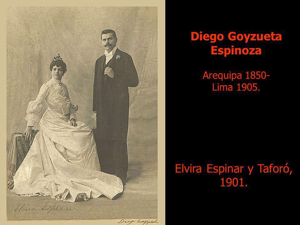 Diego Goyzueta Espinoza Arequipa 1850- Lima 1905. Elvira Espinar y Taforó, 1901.