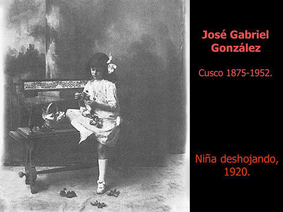 José Gabriel González Cusco 1875-1952. Niña deshojando, 1920.