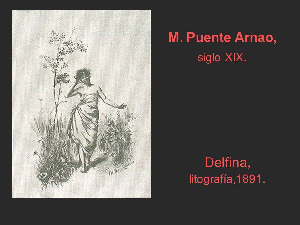 Delfina, litografía,1891. M. Puente Arnao, siglo XIX.