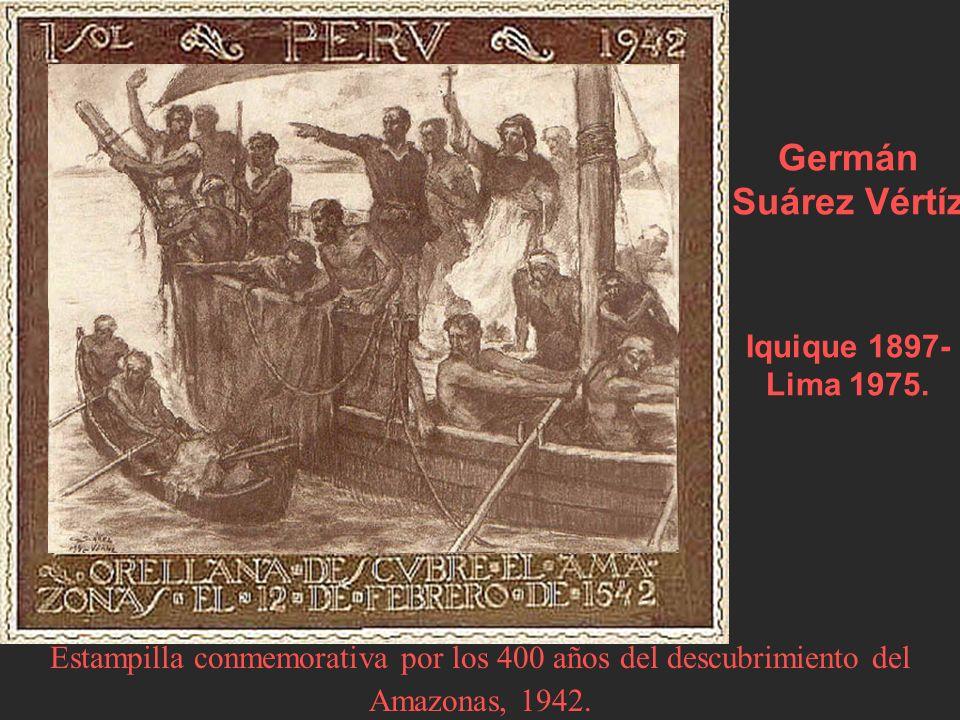 Estampilla conmemorativa por los 400 años del descubrimiento del Amazonas, 1942.