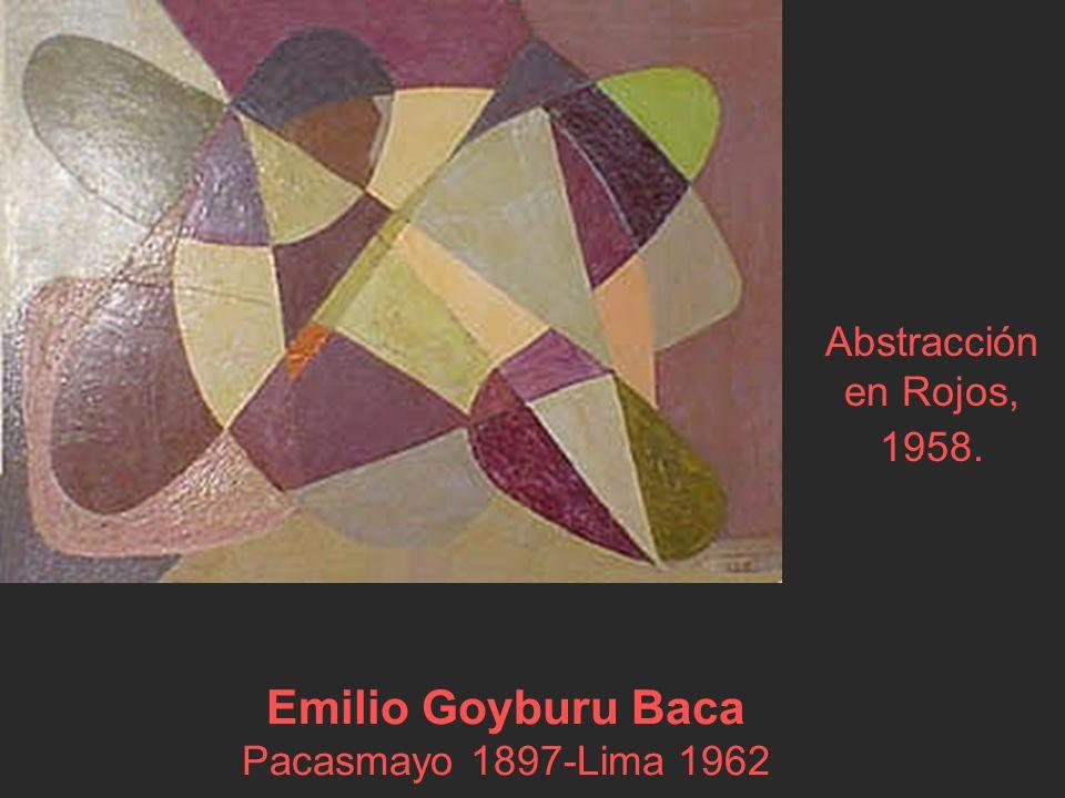 Emilio Goyburu Baca Pacasmayo 1897-Lima 1962 Abstracción en Rojos, 1958.