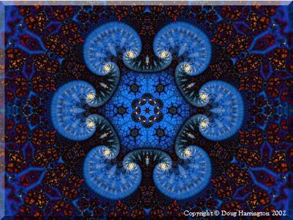 En consecuencia, esta auto- similitud es como vista a través de una lente de aumento. Las diferentes partes de un fractal se muestran similares en for