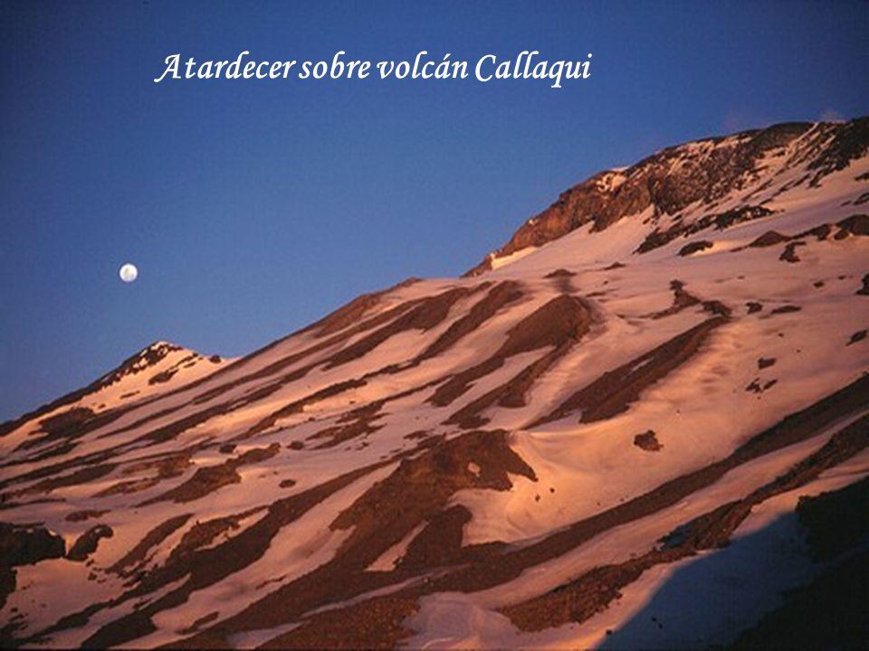Atardecer sobre volcán Callaqui