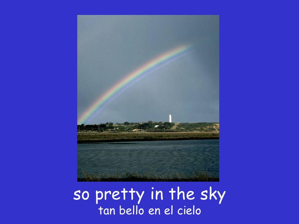 The colors of the rainbow, los colores del arcoiris