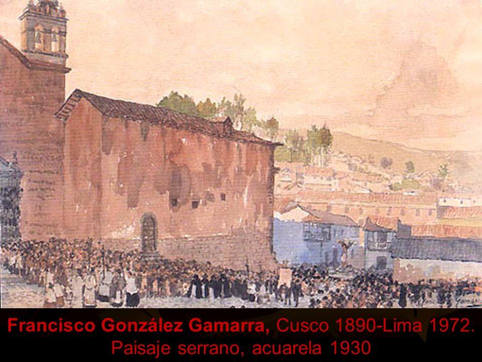 Ricardo Flórez Quintanilla. Lima 1893- Tomayquichua- Huánuco, 1983. Muchacha de las frutas, 1931. Artista iniciador, en el Perú, del estilo puntillism