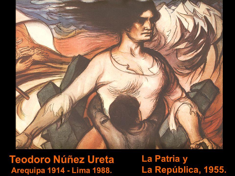 Sérvulo Gutiérrez Alarcón Ica 1914 - Lima 1961. India desnuda, 1943. La Escuela de Bellas Artes de Ica, lleva su nombre.