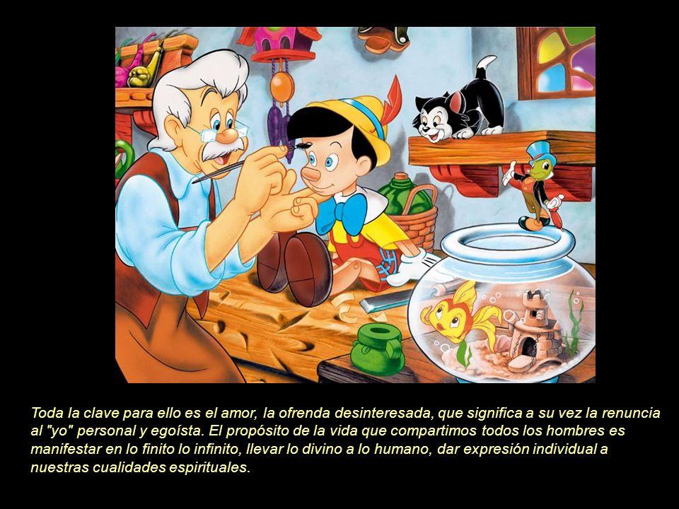Al volver Geppetto en sí en la playa, se encuentra a su lado el cuerpo sin vida de su hijo. Muy afectado, se lo lleva a casa y lo deposita en la cama.