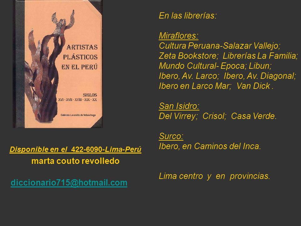 Artista que figura en el Diccionario de 530 pag. Carátula, escultura de Armando Varela Neyra. Lima - Perú.