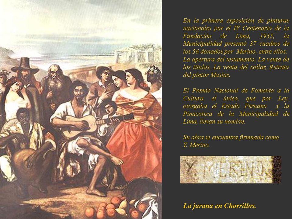 Por su meritoria y destacada labor, el Congreso Peruano le otorgó la Medalla de Oro, el 26 de noviembre de 1868. En sus últimos años, Merino cultivó l