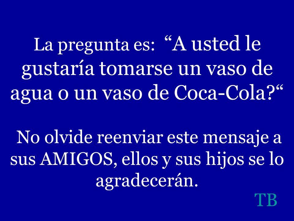 Un detalle más: La Coca Light ha sido considerada por algunos médicos e investigadores, como bomba de efecto retardado, por causa de la combinación Co