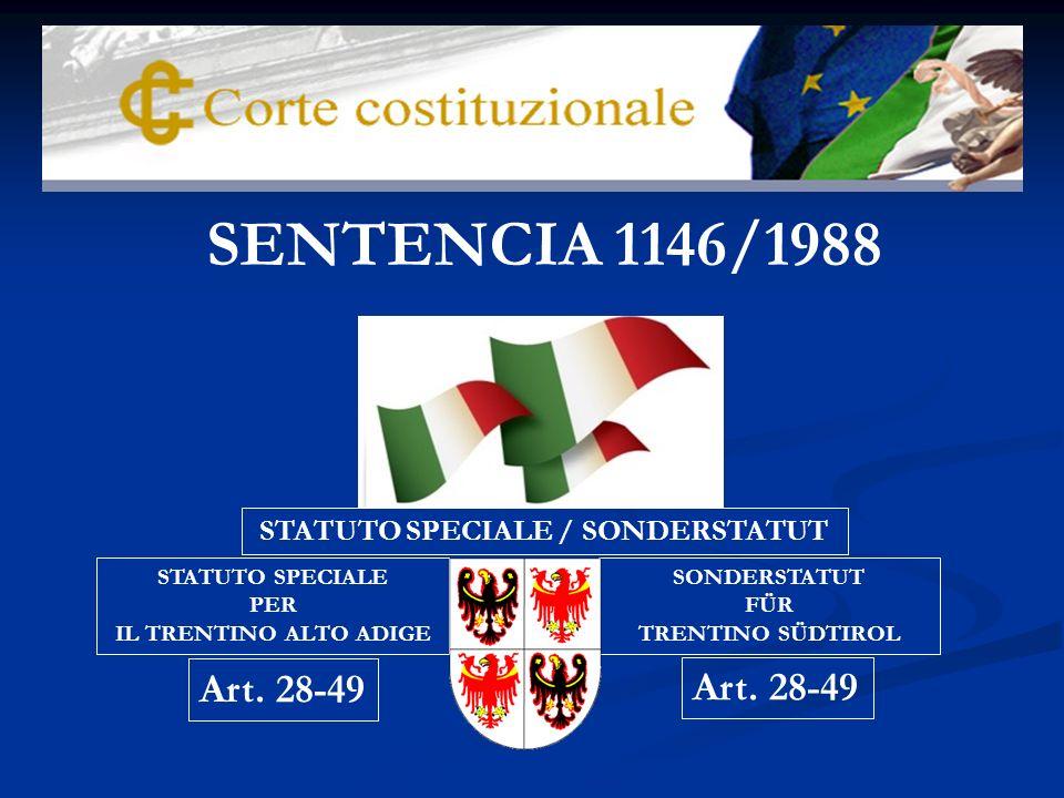 Con la Sentencia 1146/1988, el Tribunal Constitucional italiano da un significativo paso hacia delante en la garantía de la rigidez de la Constitución, y con ella del reconocimiento de los principios supremos «que no pueden ser subvertidos ni modificados en su núcleo esencial ni siquiera por las leyes de reforma u otras leyes constitucionales».