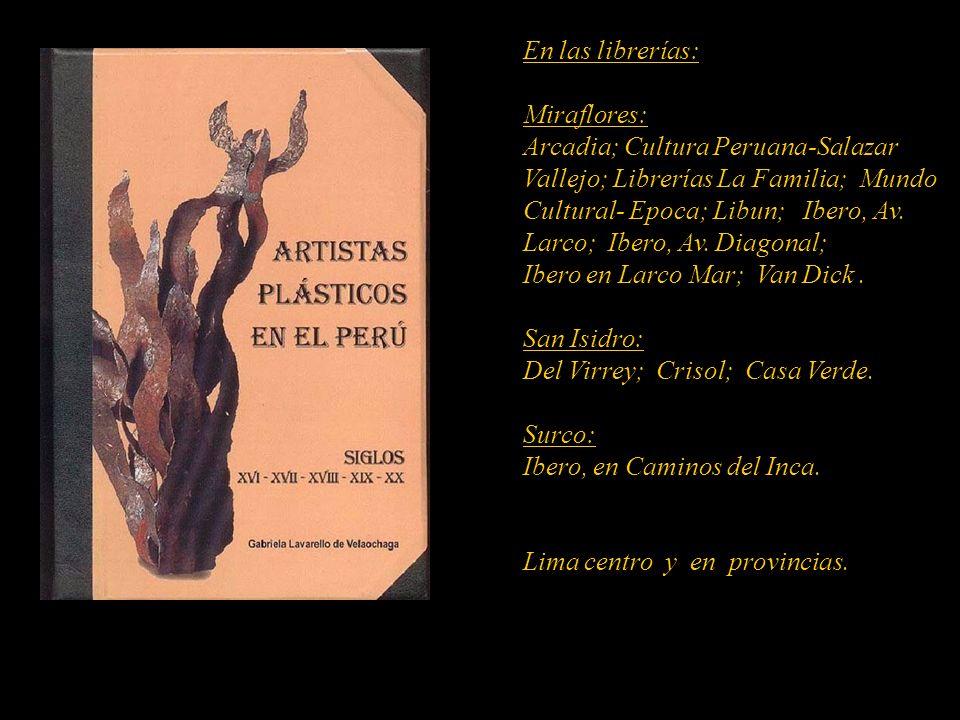 Artista que figura en el diccionario. Carátula, escultura de Armando Varela Neyra. Lima - Perú. Disponible en el 422-6090-Lima-Perú MARTA COUTO REVOLL