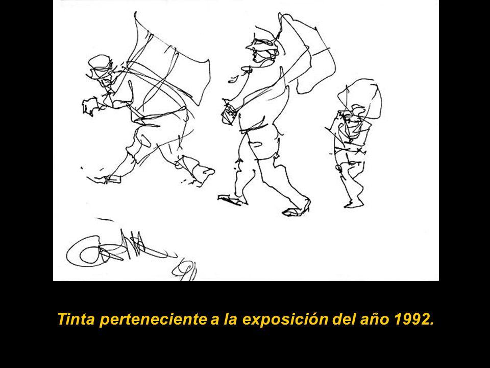 Primer boceto con la mano izquierda 1990. En el año 1990 sufrió una serie de isquemias al cerebro que le paralizaron el lado derecho del cuerpo, lo qu