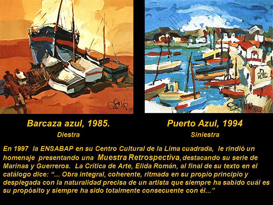 Coronando sus esfuerzos, en noviembre de 1994, presentó una magnífica muestra de acrílicos titulada de DIESTRA A SINIESTRA, en la Galería de Arte 715