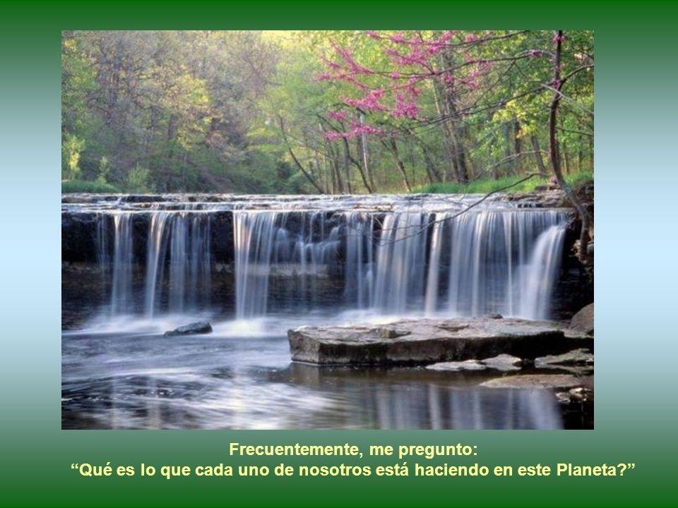 Obras de la Naturaleza, como las grandes cascadas, en su belleza, magnitud y fuerza; nos llevan a la meditación sobre nuestras vidas, nuestro destino,
