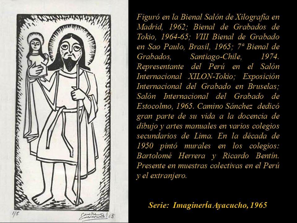 Figuró en la Bienal Salón de Xilografía en Madrid, 1962; Bienal de Grabados de Tokio, 1964-65; VIII Bienal de Grabado en Sao Paulo, Brasil, 1965; 7ª Bienal de Grabados, Santiago-Chile, 1974.