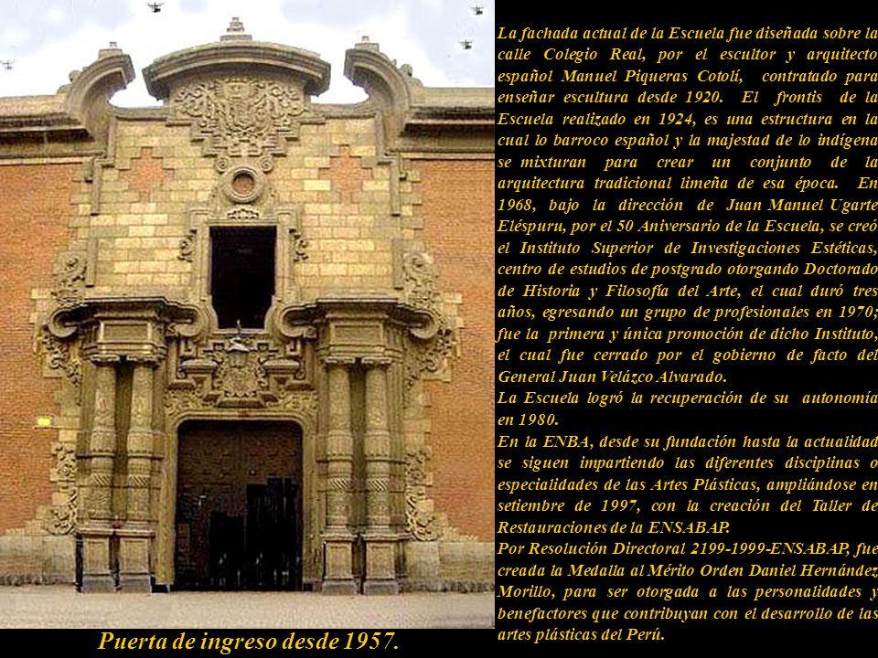 Escuela Nacional Superior Autónoma de de Bellas Artes del Perú (ENSABAP) Fundada por D.S. el 28 de setiembre de 1918 por el Gobierno del Presidente Jo