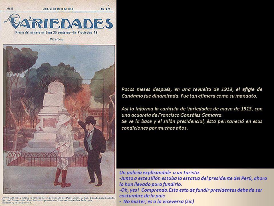 En el Parque Neptuno se encuentra un monumento con la estatua Presidente del Perú, Manuel Candamo ( 8 de setiembre de 1903 al 7 de mayo 1904), mandato
