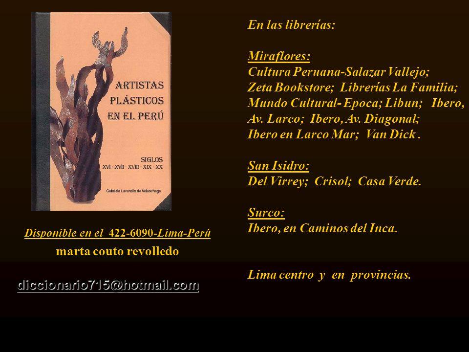 Diccionario de 530 pag. Carátula, escultura de Armando Varela Neyra. Lima - Perú.
