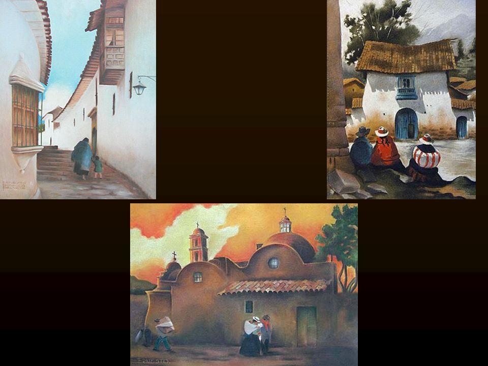 Cargadores andinos o Cooperación, obsequiado por el artista a la Sociedad Nacional de Industrias de Lima..