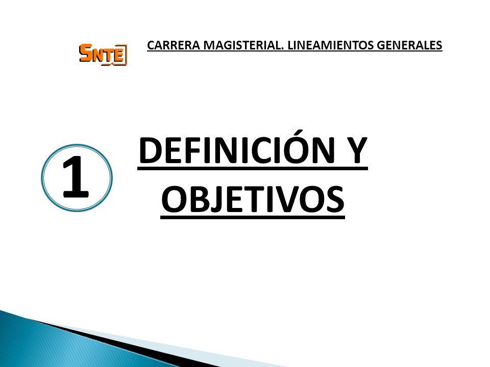 DEFINICIÓN Y OBJETIVOS CARRERA MAGISTERIAL. LINEAMIENTOS GENERALES 1