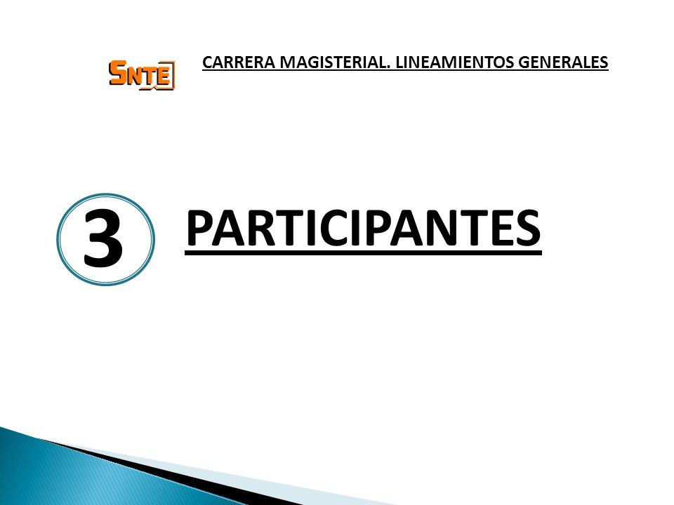 PARTICIPANTES CARRERA MAGISTERIAL. LINEAMIENTOS GENERALES 3