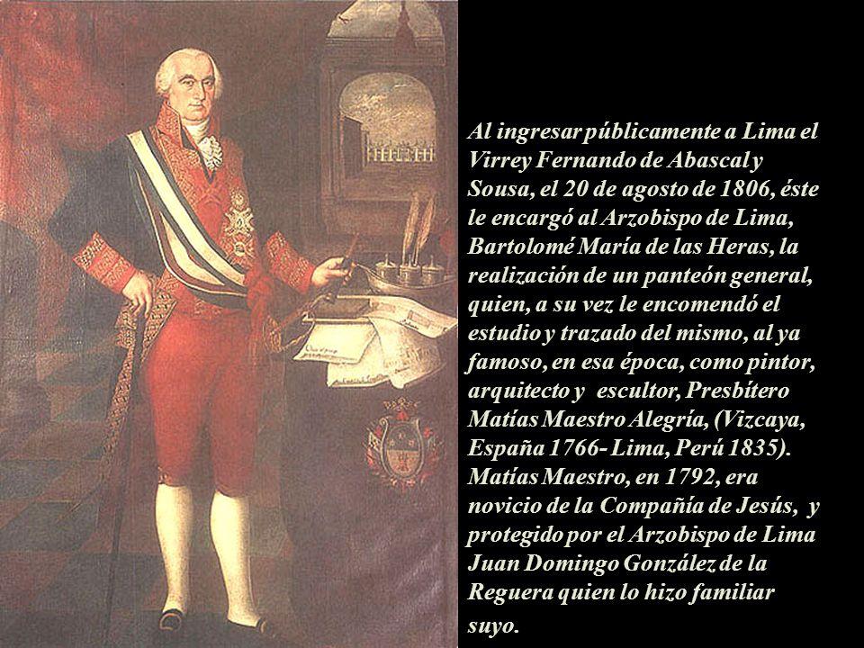 Bicentario del Cementerio Museo Presbítero Matías Maestro de Lima-Perú, 1808-2008. Presentación Nº 15 Gabriela Lavarello de Velaochaga, mayo 2008.