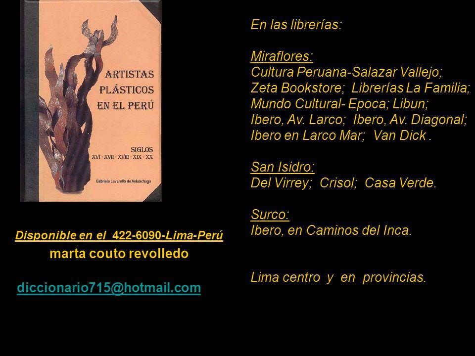 Artistas que figuran en el Diccionario de 530 pag. Carátula, escultura de Armando Varela Neyra. Lima - Perú.