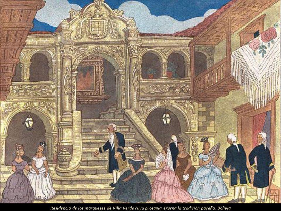 Palacete de los marqueses de Caso. Suntuosa mansión del coloniaje. Bolivia