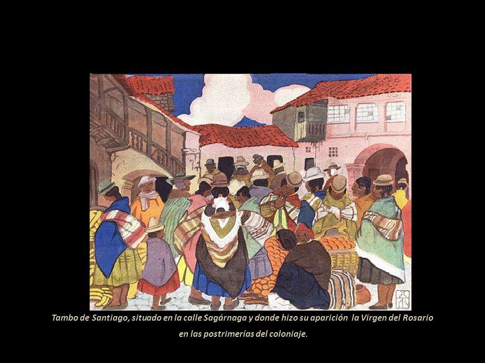 Púlpito del templo de San Francisco de Bolivia. Tallado por manos de colonial y anónimo artista paceño. Portada del famoso Seminario de San Jerónimo;