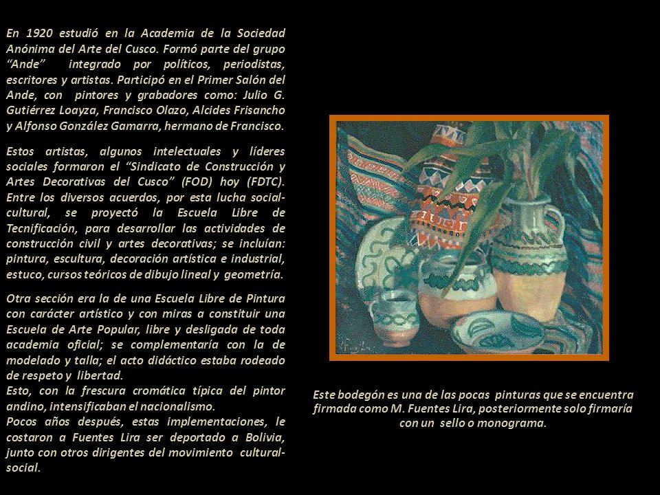 Mariano Fuentes Lira Pintor, escultor, grabador, dibujante y poeta. Nació, según certificado de bautismo, el 8 de setiembre de 1905 en Surite-Anta-Cus