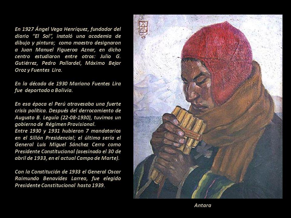 En 1920 estudió en la Academia de la Sociedad Anónima del Arte del Cusco. Formó parte del grupo Ande integrado por políticos, periodistas, escritores