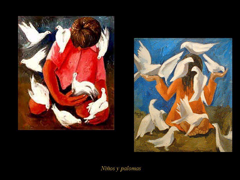 Niños y palomas