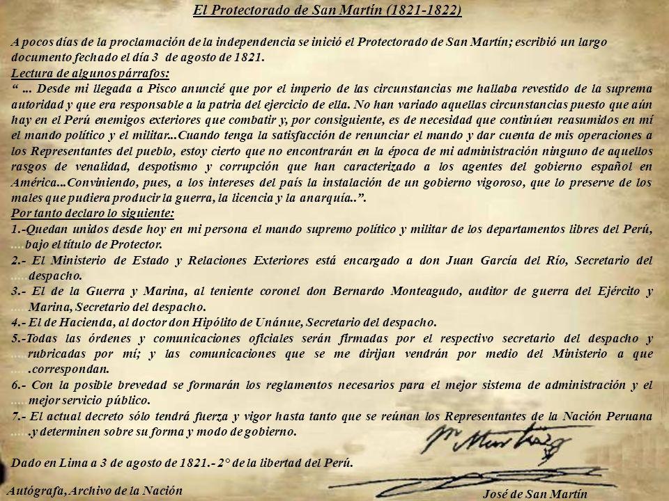 El Arzobispo de Lima firmó el Acta de la Indpendencia. El clero y los párrocos hicieron el juramento de sostener y defender la Independencia del Perú.
