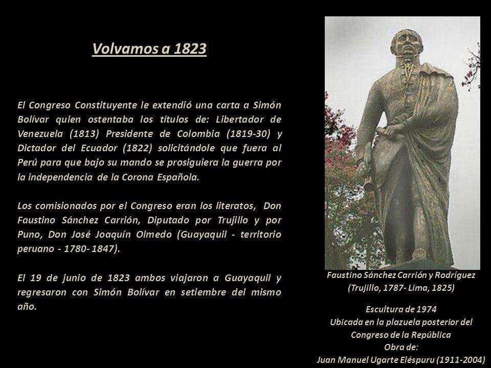 Recién en 1901 se levantó un monumento de San Martín en el Callao, factura del escultor italiano residente en Lima, Lodovico Agonstino Marazzani Visco