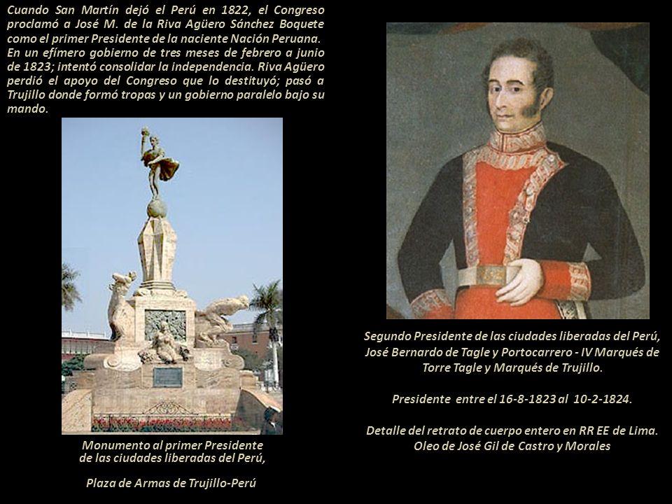 Volvamos a 1823 El Congreso Constituyente le extendió una carta a Simón Bolívar quien ostentaba los títulos de: Libertador de Venezuela (1813) Preside