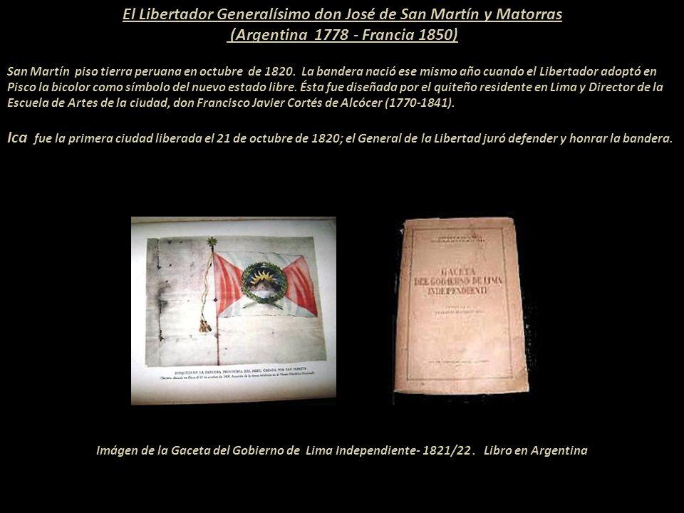 LA PROCLAMACIÓN DE LA INDEPENDENCIA DEL PERÚ Presentación Nº 70 Gabriela Lavarello Vargas de Velaochaga- Perú - julio 2012