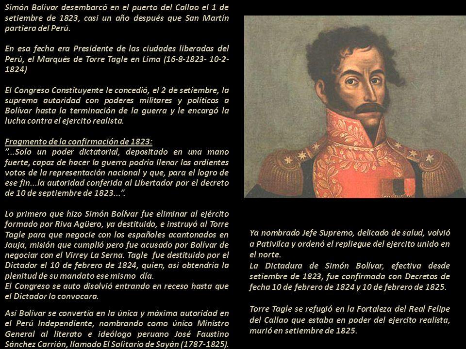 Segundo Presidente de las ciudades liberadas del Perú, José Bernardo de Tagle y Portocarrero - IV Marqués de Torre Tagle y Marqués de Trujillo. Presid