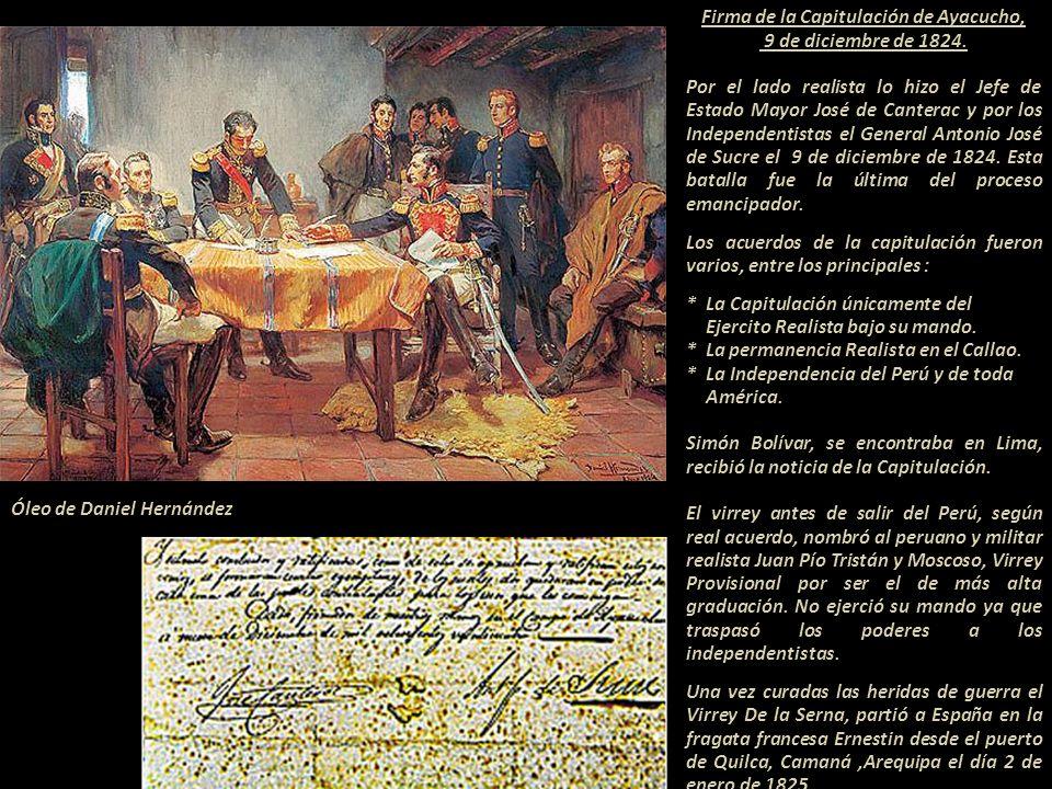 Batalla de Ayacucho La batalla de Ayacucho marcó el final del dominio español en lo que había sido el virreinato del Perú en casi todo el continente s