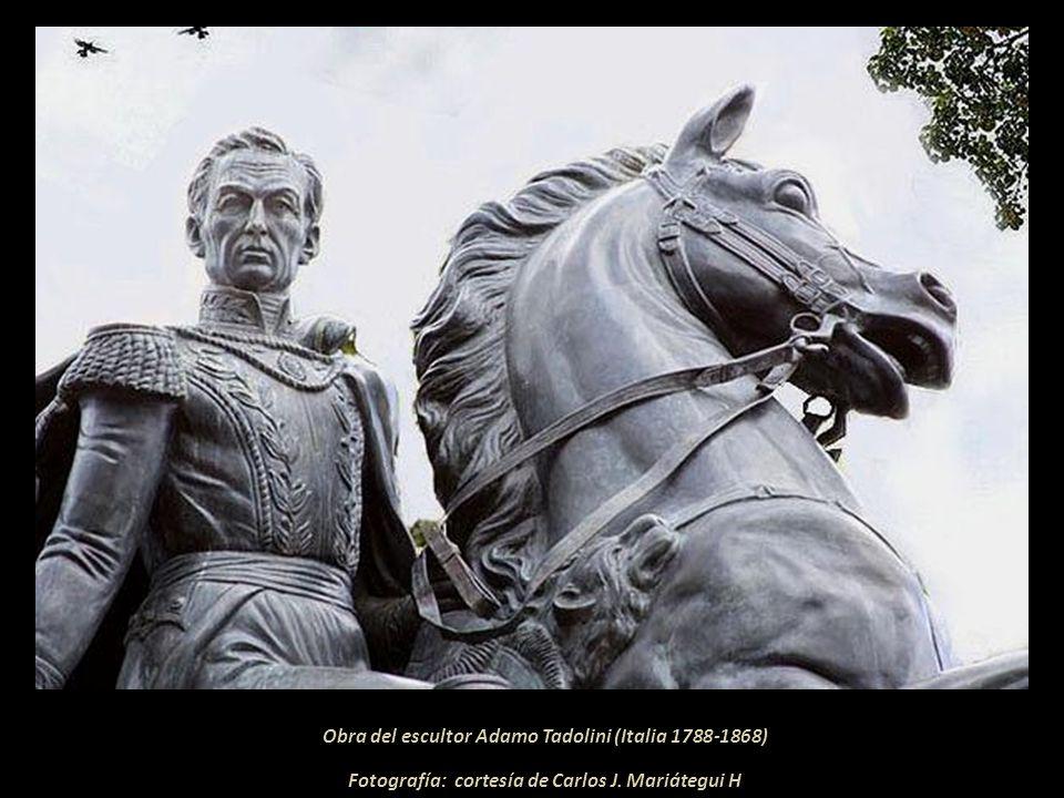 Monumento a Simón Bolívar Pasaron 34 años para que sus ordenes fueran cumplidas. El 12 de febrero de 1825, dos días después de ratificada la Dictadura