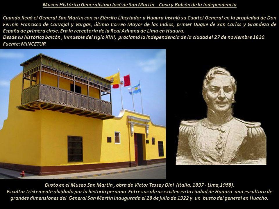 El Libertador Generalísimo don José de San Martín y Matorras (Argentina 1778 - Francia 1850) San Martín piso tierra peruana en octubre de 1820. La ban
