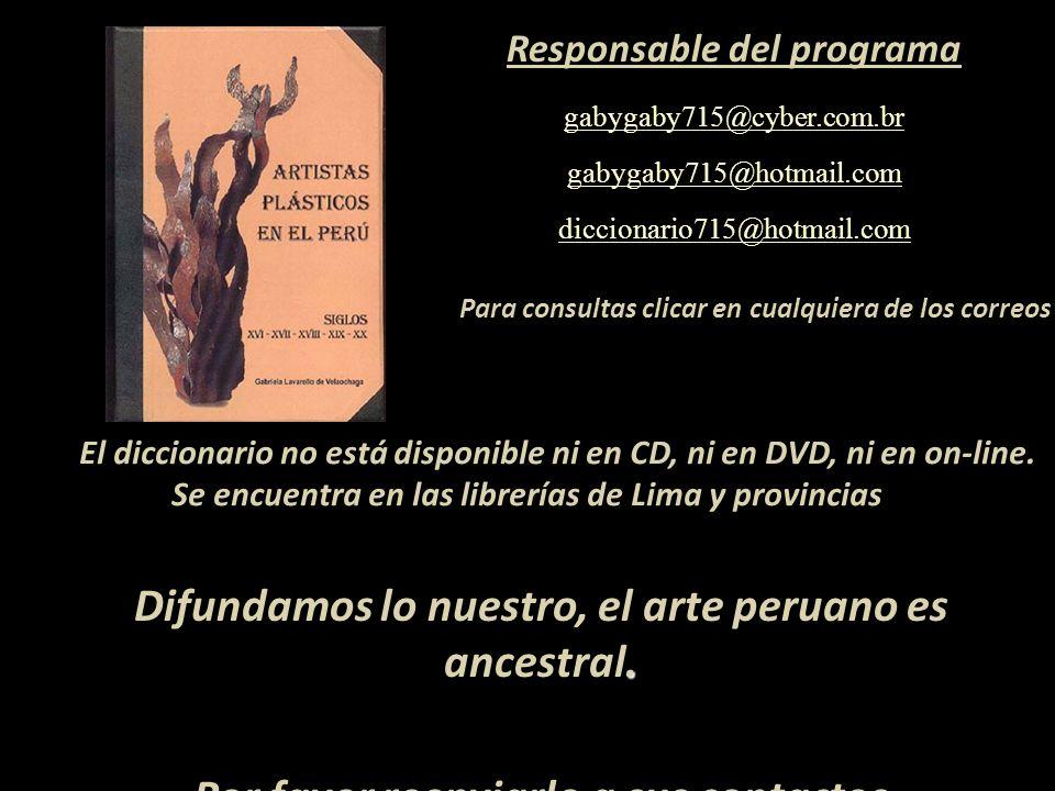 Gracias a la fina cortesía del Profesor Mg. Víctor A. Montero Cam la serie de mis programas artísticos en PowerPoint están en su blog